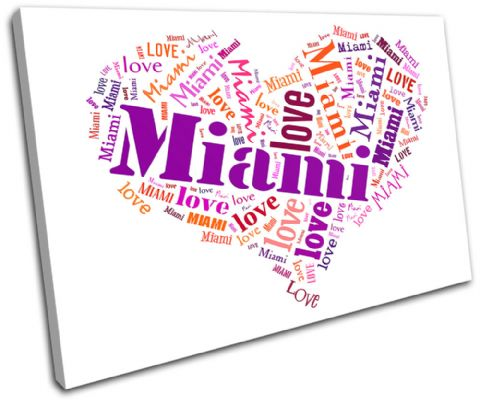Miami Heart I Love Typography - 13-0253(00B)-SG32-LO